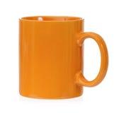 Tazza arancio Fotografia Stock Libera da Diritti