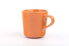 1 tazza arancio Fotografia Stock Libera da Diritti