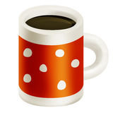 Tazza arancio di caffè Fotografia Stock