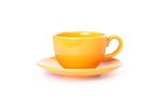 Tazza arancione fotografia stock