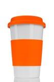 Tazza arancione di corsa Fotografia Stock