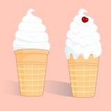 Tazza astratta del gelato. Fotografia Stock Libera da Diritti