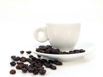 Tazza bianca 2 del caffè espresso Immagini Stock Libere da Diritti
