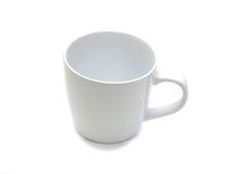 Tazza bianca ceramica su bianco Immagini Stock Libere da Diritti