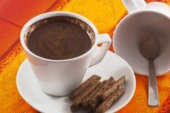 Tazza bianca con caffè nero Fotografia Stock Libera da Diritti