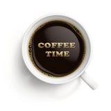 Tazza bianca con caffè nero Fotografie Stock Libere da Diritti