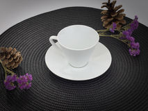 Tazza bianca di caffè o del tè Immagine Stock Libera da Diritti