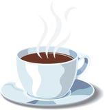 Tazza bianca di cofee Fotografie Stock Libere da Diritti
