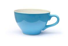 Tazza blu fotografia stock libera da diritti
