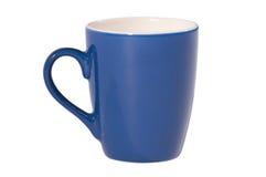 Tazza blu di tè (isolato su bianco) fotografie stock libere da diritti