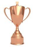 Tazza Bronze del trofeo su bianco Fotografia Stock Libera da Diritti