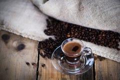 Tazza calda di caffè espresso Fotografia Stock