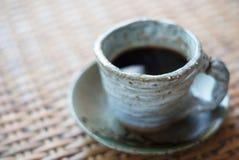 Tazza ceramica di caffè nero Fotografie Stock Libere da Diritti
