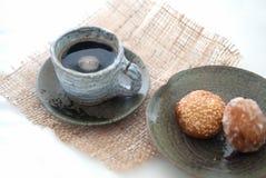 Tazza ceramica di caffè nero Immagini Stock