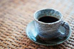 Tazza ceramica di caffè nero Fotografia Stock