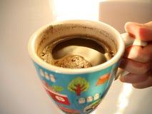 Tazza ceramica dipinta Fotografie Stock
