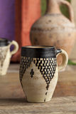 Tazza ceramica marocchina dell'acqua Fotografia Stock Libera da Diritti