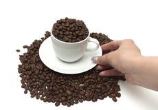 Tazza con caffè Fotografia Stock Libera da Diritti