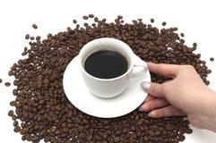 Tazza con caffè Immagine Stock