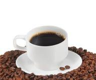 Tazza con del chicco di caffè Immagine Stock Libera da Diritti