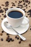 Tazza con i chicchi di caffè Immagine Stock Libera da Diritti