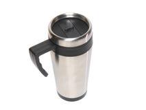 Tazza con il caffè del protezione-thermos di calore. Fotografia Stock Libera da Diritti