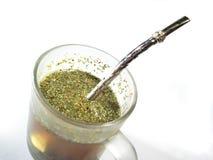 Tazza con il tè e l'ombra del compagno   Immagine Stock Libera da Diritti