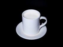 Tazza con latte Fotografie Stock Libere da Diritti