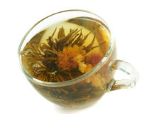 Tazza con tè di erbe Fotografia Stock
