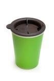 Tazza da caffè da portar via di colore verde Fotografia Stock Libera da Diritti