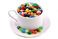 Tazza dei fagioli di gelatina fotografia stock libera da diritti