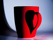 Tazza del biglietto di S. Valentino Fotografia Stock Libera da Diritti