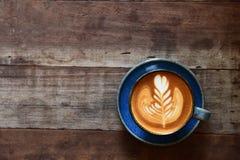 Tazza del caffè di arte del latte Immagine Stock Libera da Diritti