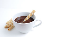 Tazza del cioccolato Fotografie Stock Libere da Diritti