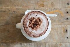 Tazza del cofee dalla cima Fotografie Stock