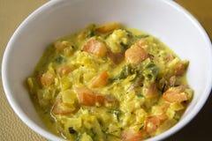 Tazza del curry del pomodoro Fotografia Stock