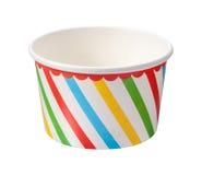 Tazza del gelato isolata Fotografie Stock