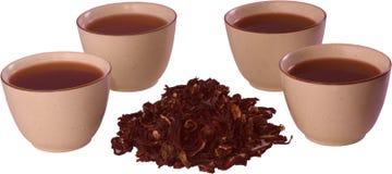 Tazza del karkade del tè Fotografia Stock