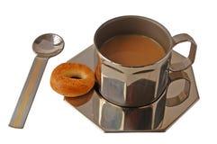 Tazza del metallo di coffe Fotografia Stock