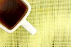 Tazza del quadrato bianco di tè Fotografia Stock