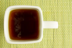 Tazza del quadrato bianco di tè Immagine Stock