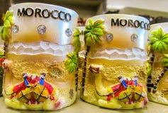 Tazza del ricordo del Marocco con il cammello Fotografia Stock Libera da Diritti