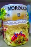 Tazza del ricordo del Marocco con il cammello Immagini Stock Libere da Diritti