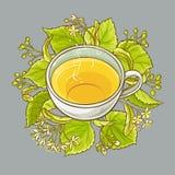 Tazza del tè del tiglio Fotografia Stock Libera da Diritti