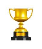 Tazza del trofeo dell'oro Fotografia Stock