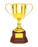 Tazza del trofeo dell'oro isolata fotografia stock