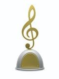 Tazza del trofeo della chiave tripla Fotografie Stock