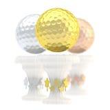 Tazza del trofeo di sport della palla da golf del premio Immagini Stock Libere da Diritti