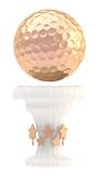 Tazza del trofeo di sport della palla da golf del premio Fotografia Stock