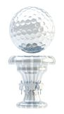 Tazza del trofeo di sport della palla da golf del premio Immagine Stock Libera da Diritti